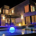 Villa Chanel Sitges at night