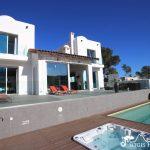 Pool and jacuzzi at Villa Ibiza