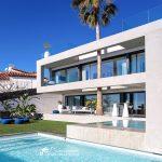 Stunning view of Villa Malibu in Sitges