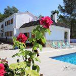 Villa Rosa in Mas Mestre pool area shot