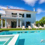 Villa de los Leones pool area and gardens