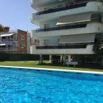 Apartment Calipolis Sitges pool area view