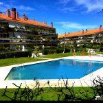 Pool area at Apartment Terramar in Sitges