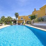 Pool area at Masia Casanova in Sitges