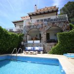 Villa Lucia Sitges pool area view