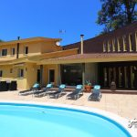 The pool area at Villa Mitja Lluna