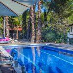 Large swimming pool at Villa Palmera