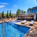 Villa Santa Fe near Sitges - pool area